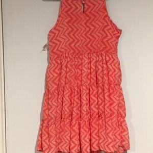 Pinky Dresses - NWTPinky Dress Coral and cream layered dressSz 16